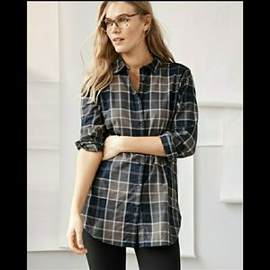 Garnet Hill Organic Prima Cotton Plaid Tunic 14